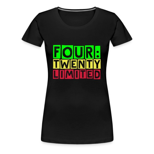 four:twenty limited Girlie, Black - Women's Premium T-Shirt