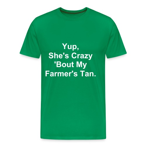 Farmer's Tan Shirt - Mannen Premium T-shirt