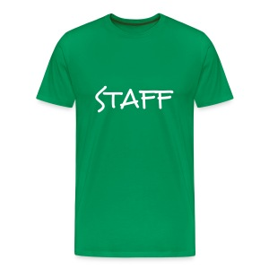 Mens ' Staff ' Tee v4 Green / White Flex Print - Men's Premium T-Shirt