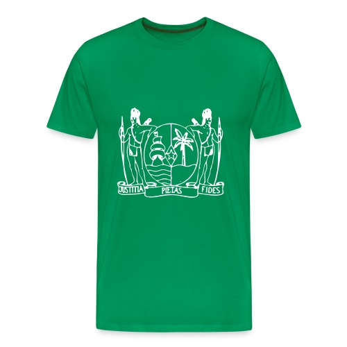 Wapen van Suriname - Mannen Premium T-shirt