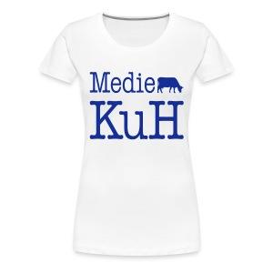 Girlieshirt, dunkles Brustlogo - Frauen Premium T-Shirt