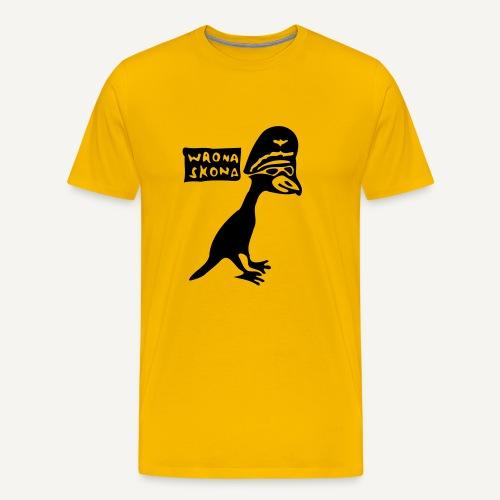 Wrona skona - Koszulka męska Premium