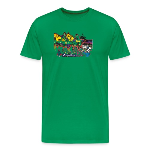 Ben Graffi - Khaki - Men's Premium T-Shirt