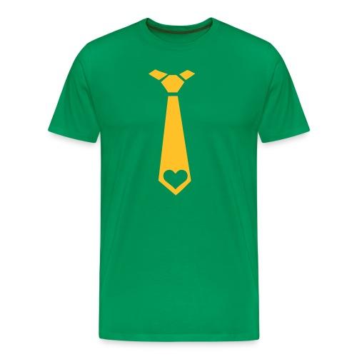 The Love Tie - Mannen Premium T-shirt