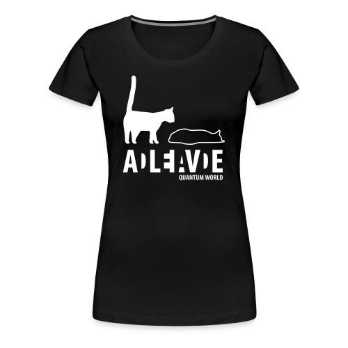 Uncertainty   Wit   V - Vrouwen Premium T-shirt