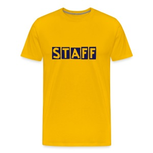 Mens ' Staff ' Tee v6 Yellow / Navy Flex Print - Men's Premium T-Shirt