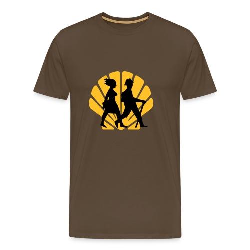 Wandern Jakobsmuschel - Männer Premium T-Shirt