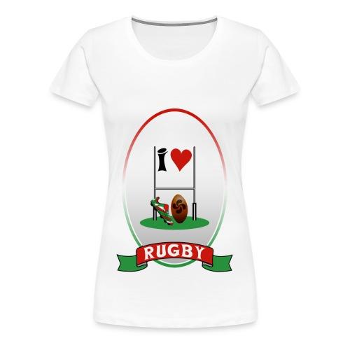 womens Rugby three - Women's Premium T-Shirt