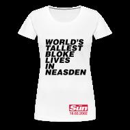 T-Shirts ~ Women's Premium T-Shirt ~ World's Tallest Bloke Lives in Neasden