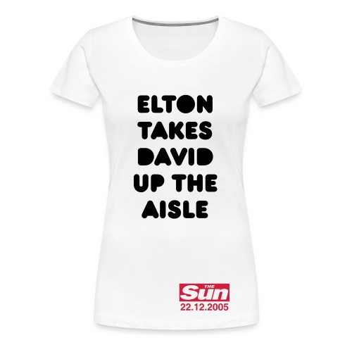 Elton Takes David Up The Aisle - Women's Premium T-Shirt