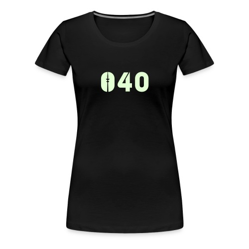 040 SHIRT GLOW-IN-THE-DARK - Frauen Premium T-Shirt