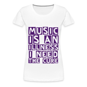 music illness (F) - Women's Premium T-Shirt