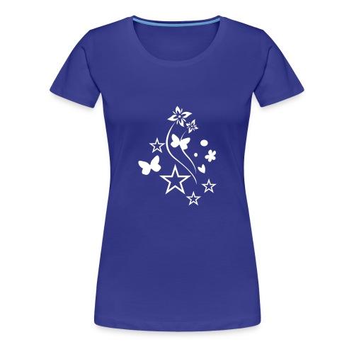 Stars & Butterflies (white) - Women's Premium T-Shirt