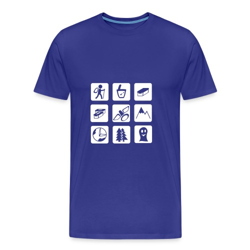 Geocaching Matrix Ocean - Männer Premium T-Shirt