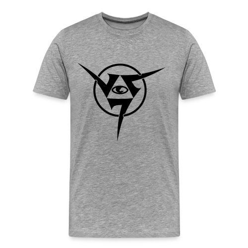 TRIANGLE EYE GREY - Men's Premium T-Shirt