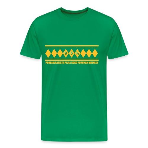 Anti-Jussi vihreä - Miesten premium t-paita