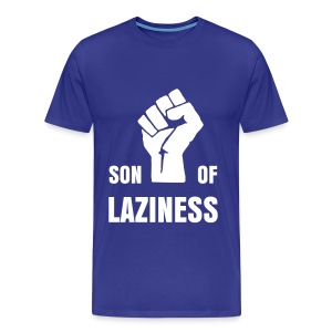 T-shirt Son Of Laziness bleu royal/blanc - T-shirt Premium Homme