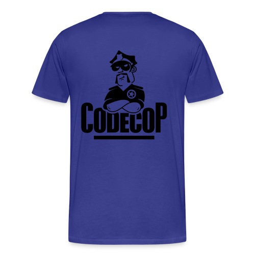 Code Cop, 'Reversed Blue Michael' - Men's Premium T-Shirt
