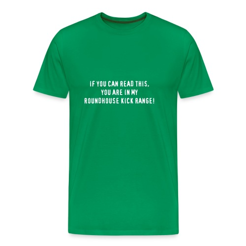 roundhousekick T-Shirt front/back kaki - T-shirt Premium Homme