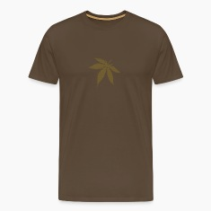 Brown Cannabis / Marijuana Leaf (rasterized / spotted) Men's T-Shirts