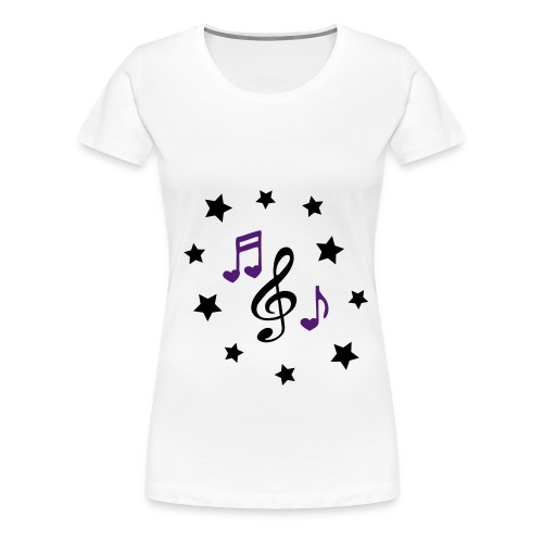 Women's music and stars tee - Women's Premium T-Shirt