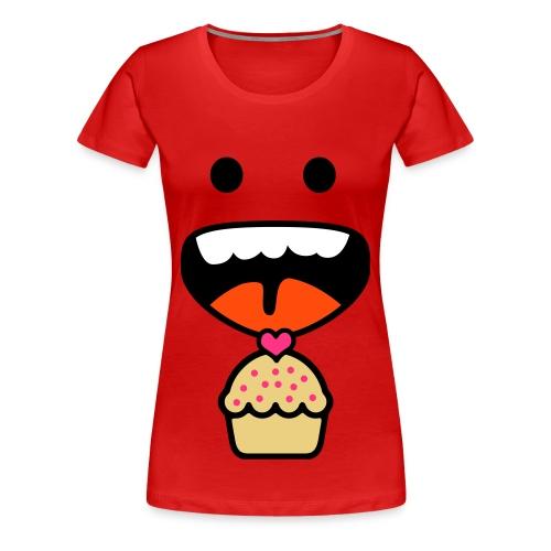 yummy cupcake shirt (F) - Women's Premium T-Shirt