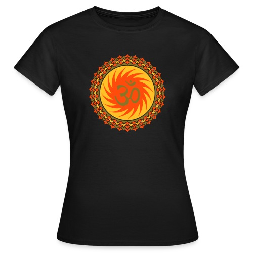OM Lotus (yellow/neon-orange/gold) - Girlieshirt klassisch - Frauen T-Shirt