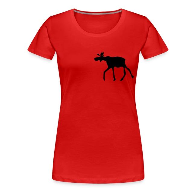 "Frauen Girlieshirt klassisch ""The Elk"" (klein)"