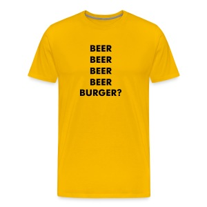 BEER & BURGER - Men's Premium T-Shirt
