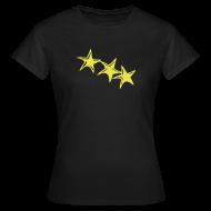 T-Shirts ~ Frauen T-Shirt ~ Shirt Sterne Gelb GIRL