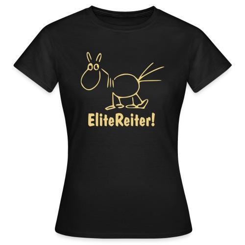 EliteReiter! Girlieshirt oliv/m - Frauen T-Shirt