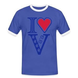I LOVE VA'A T-SHIRT - Men's Ringer Shirt