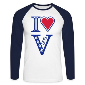 I LOVE VA'A T-SHIRT - Men's Long Sleeve Baseball T-Shirt