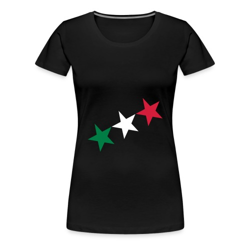 T-shirt  donna logo stelle italia - Maglietta Premium da donna