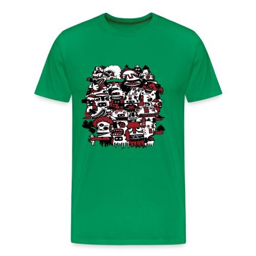 Monsters on the Mountain - Men's Premium T-Shirt