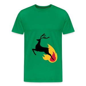 Deer jumping from flame - Men's Premium T-Shirt