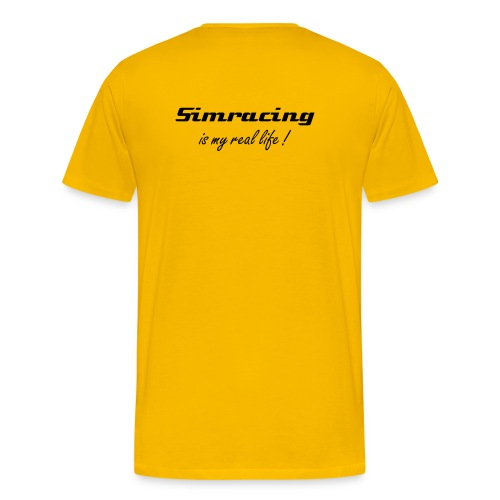 SimRacing is my real life (texte au dos) - T-shirt Premium Homme