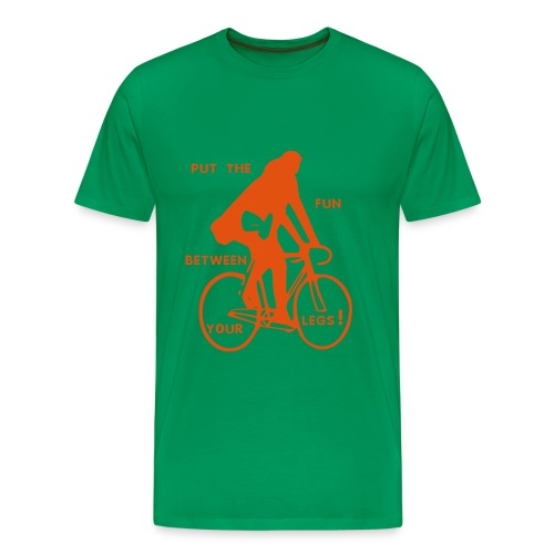 basic-khaki-orange: put the fun between your legs - Männer Premium T-Shirt