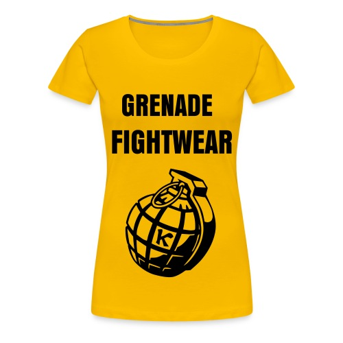 Grenade Fightwear Short Sleeve T (Female) - Women's Premium T-Shirt