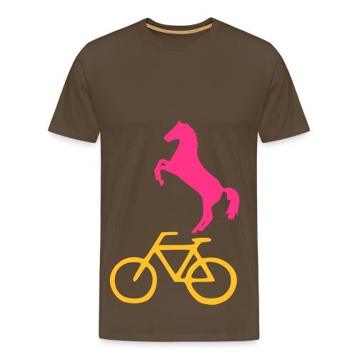 Cyklande häst! - Premium-T-shirt herr