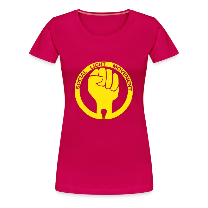 SOCIAL LIGHT MOVEMENT YELLOW (womens classic) - Women's Premium T-Shirt