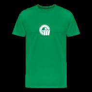 T-Shirts ~ Men's Premium T-Shirt ~ Small Logo on Front & Large Domain on Back