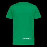 T-Shirts ~ Men's Premium T-Shirt ~ Small Logo Front & Domain on Back