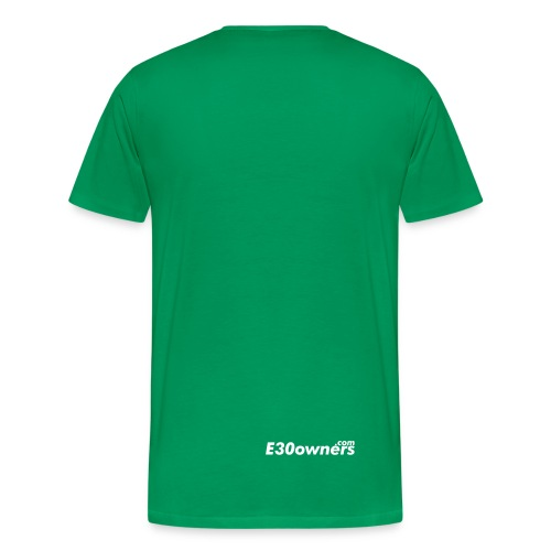 Small Logo Front & Domain on Back - Men's Premium T-Shirt