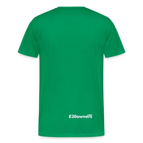 Small Logo Front & Domain on Back - Men's Premium T-Shirt