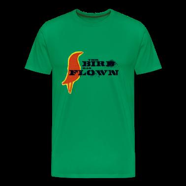 Moss green This Bird Has Flown Men's T-Shirts