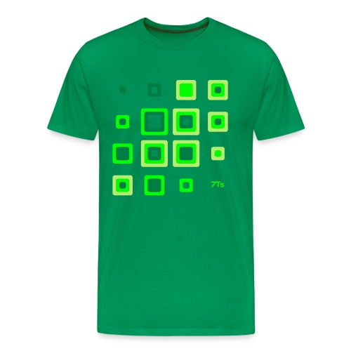 Future Retro GREEN from 7Ts - Men's Premium T-Shirt