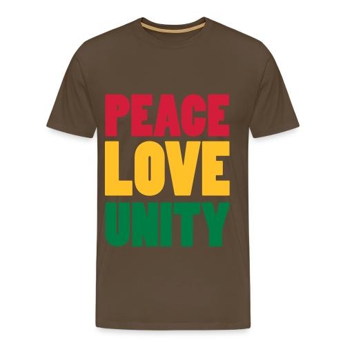 PeaceLoveUnity - Männer Premium T-Shirt