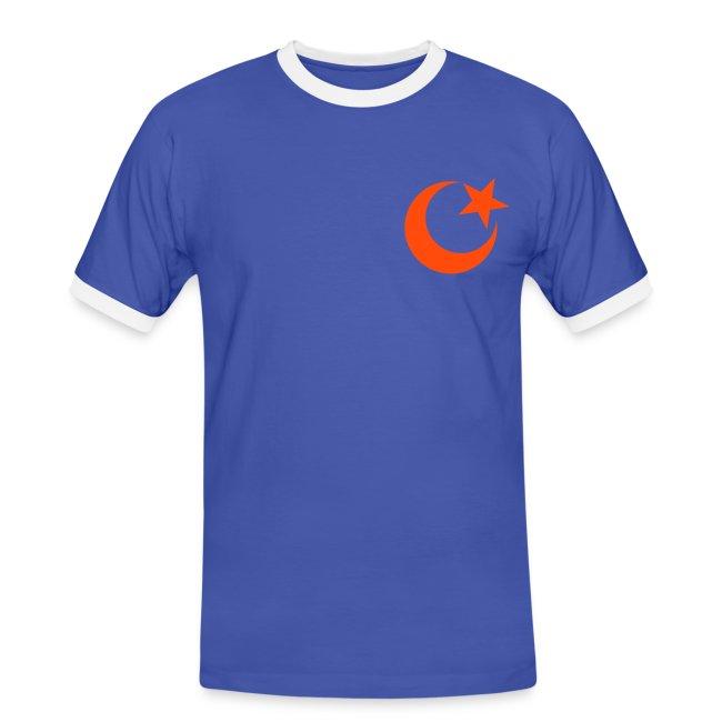t-shirt contrast da uomo
