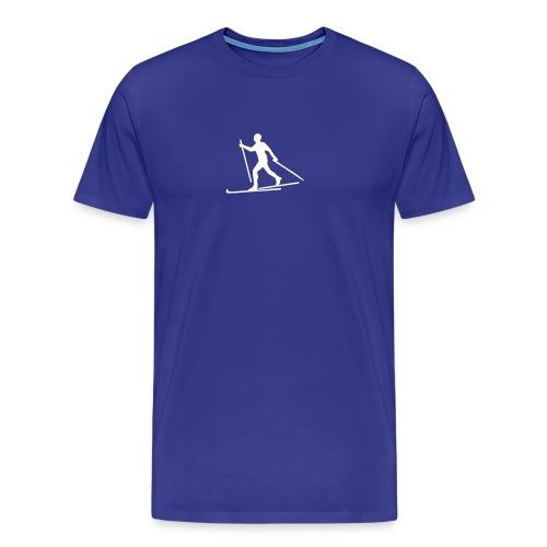 Blå Extra - Premium T-skjorte for menn